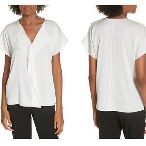 Nwot Hugo Boss silk Intessa blouse 8 medium White